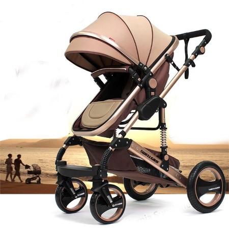 Kahverengi wellgro golden horn q3 travel sistem bebek arabası